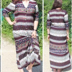 Dresses & Skirts - Print Floral Loose Boho Bohemian Beach Maxi Dress